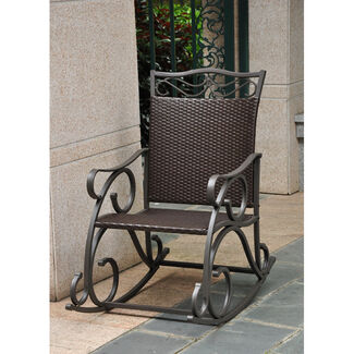 Valencia Resin, Wicker and Steel Rocking Chair